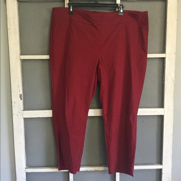 ef1f2a9db3e Jules   Leopold Pants - Jules   Leopold red stretch cropped pants